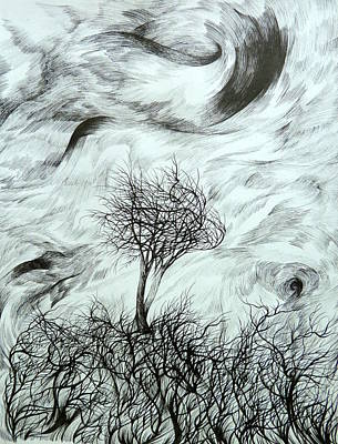 Storm Drawing - Lean On Me by Anna  Duyunova
