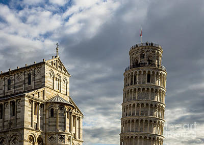 Leaning Tower And Duomo Di Pisa Print by Prints of Italy