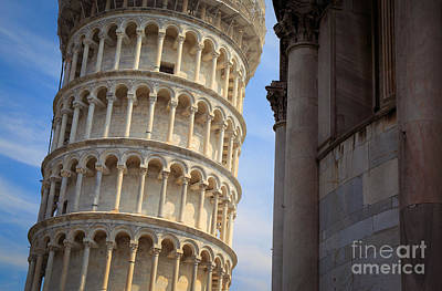 Leaning Tower Print by Inge Johnsson
