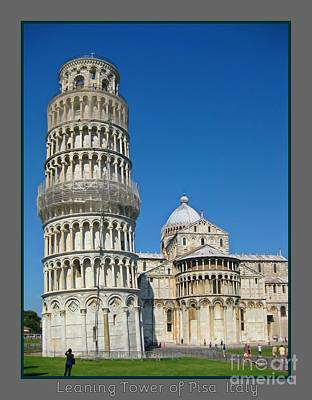 Leaning Tower Of Pisa Print by John Malone