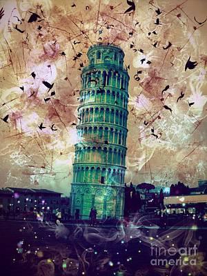Epic Digital Art - Leaning Tower Of Pisa 1 by Marina McLain