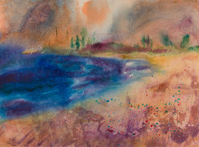 Wet Into Wet Watercolor Painting - Leann On The Beach by Brook Powell
