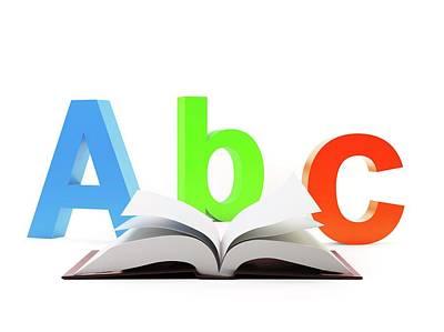 Learning The Alphabet Print by Andrzej Wojcicki