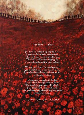Least We Forget-flanders Fields Original by Jody Domingue