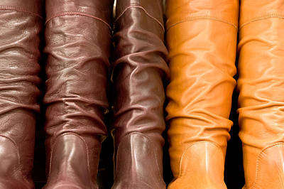 Leather Boots Print by Tom Gowanlock