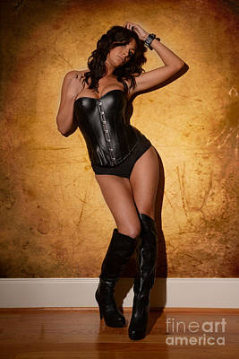 Masochism Photograph - Leather Corset by Jt PhotoDesign