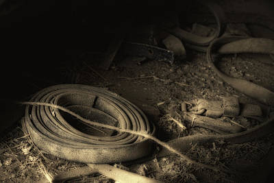 Blacksmith Photograph - Leather Strap Still Life by Tom Mc Nemar