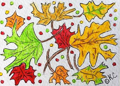 Leaves Are Falling Print by Kathy Marrs Chandler