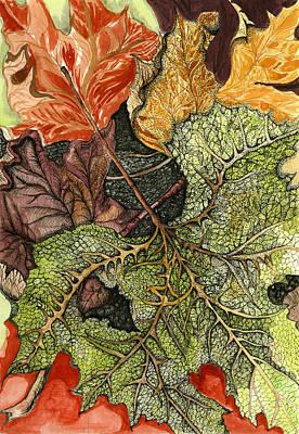 Sundance Painting - Leaves Of Autumn by RK Hammock