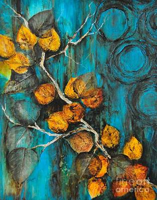 Leaves Of Gold Print by Donna Martin