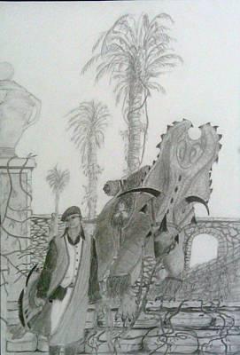 Drawing - Leaving Gamorra by George Harrison