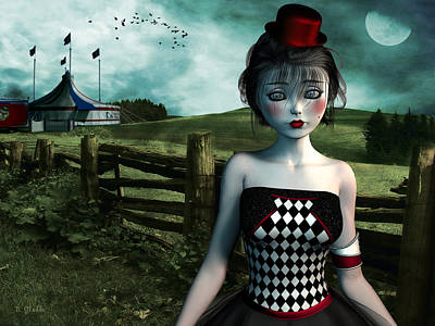 Doll Mixed Media - Leaving The Circus by Britta Glodde