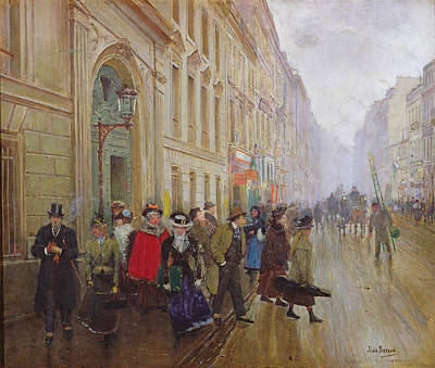 Bohemian Photograph - Leaving The Conservatoire, 1899 Oil On Canvas by Jean Beraud