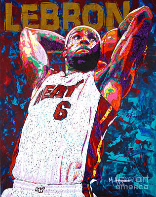 Lebron James Painting - Lebron Dunk by Maria Arango