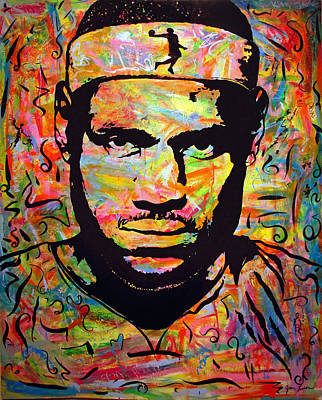 Lebron James Print by Jean P Losier