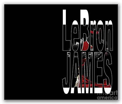 Lebron James Print by Marvin Blaine