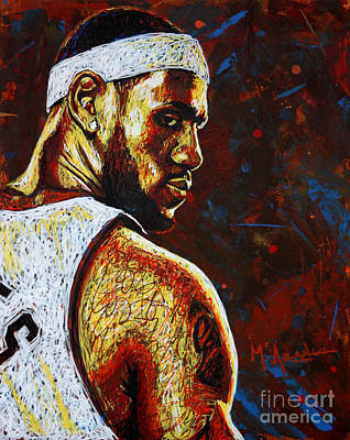 Nba Players Painting - Lebron  by Maria Arango
