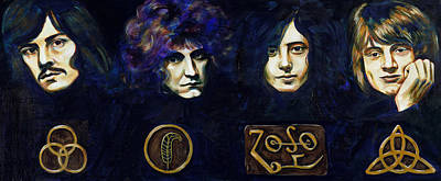 Robert Plant Painting - Led Zeppelin by Charles  Bickel