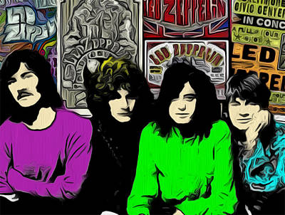 Jimmy Page Digital Art - Led Zeppelin by GR Cotler