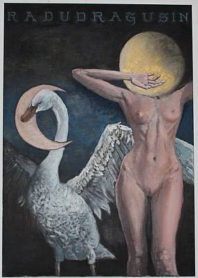 Leda And The Swan Original by Radu Dragusin