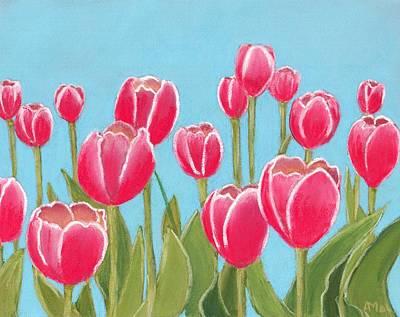 Red Flowers Painting - Leen Van Der Mark Tulips by Anastasiya Malakhova