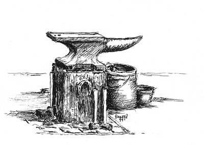 Lee's Anvil Print by Sam Sidders