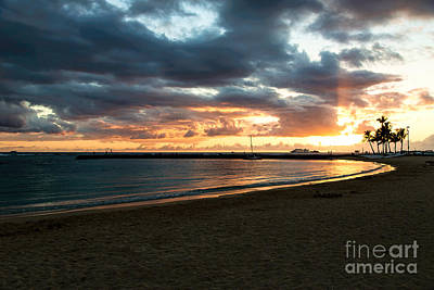 Leeward Sunset Print by Jon Burch Photography