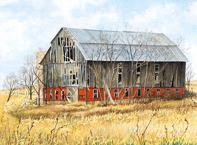Barn Wood Painting - Left Behind by Barbara Jewell