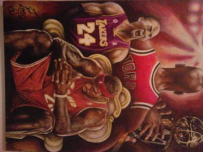 Kobe Painting - Legacy..to Be King by Jamion Williams