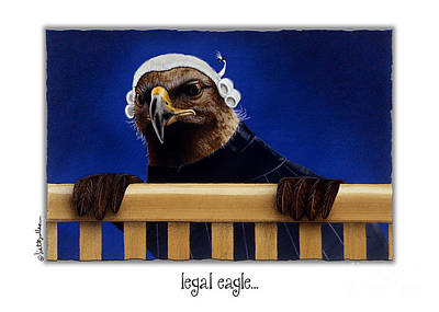 Courting Painting - Legal Eagle... by Will Bullas