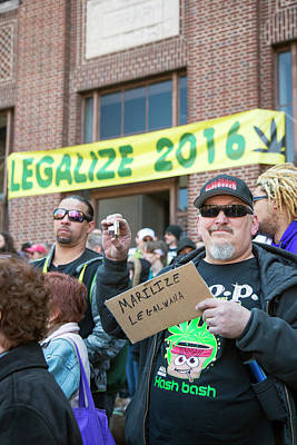 Legalisation Of Marijuana Rally Print by Jim West