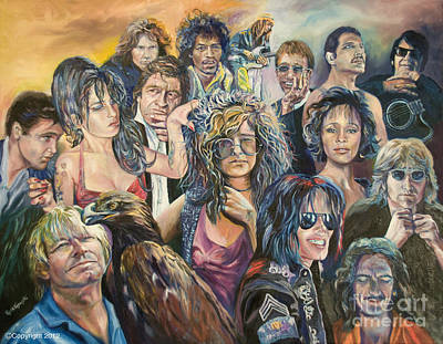 Andy.gibb Painting - Legends by Paula Visnoski