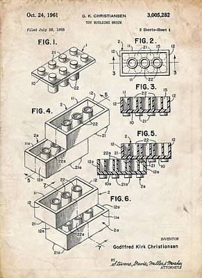 Lego Blocks Print by Stephen Chambers