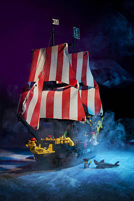 Skull Photograph - Lego Pirate Ship by Samuel Whitton