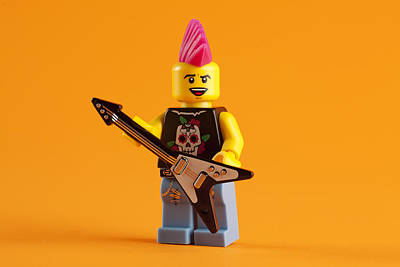 Pink Hair Photograph - Lego Punk Rocker by Samuel Whitton