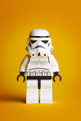 Lego Storm Trooper Print by Samuel Whitton