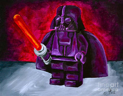Lego Vader Print by Herschel Fall