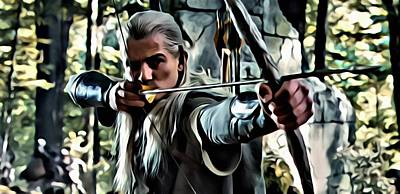 Orlando Bloom Painting - Legolas by Florian Rodarte