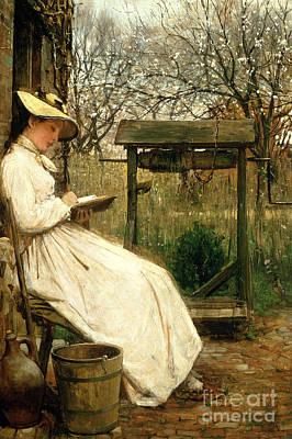 Literature Painting - Leisure Hours by John Robertson Reid