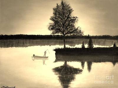 Lakefront Painting - Leisure Time by Tim Townsend