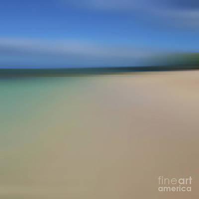 Abstract Beach Landscape Digital Art - Lele Ka Iwi Mailie Kai Ko O by Sharon Mau