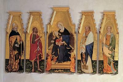 Hagiography Photograph - Lello Da Velletri, Madonna And Child by Everett