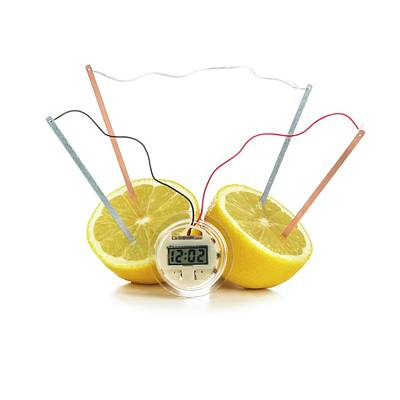 Energy Conversion Photograph - Lemon Clock by Science Photo Library