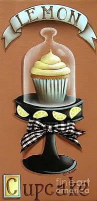 Lemon Cupcake Print by Catherine Holman