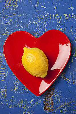 Lemon Heart Print by Garry Gay