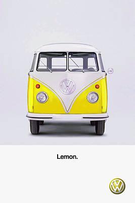 Vw Camper Van Photograph - Lemon by Mark Rogan