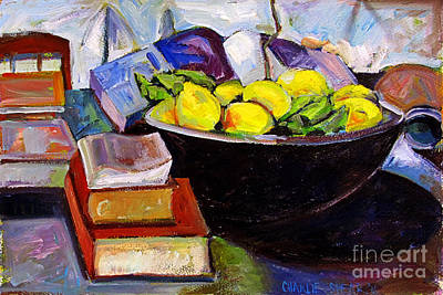 Cookbook Painting - Lemon Meringue by Charlie Spear