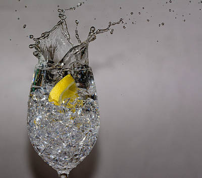 Lemon Splash Print by Colleen McIntier