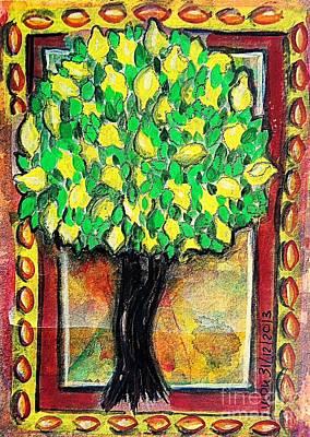 Lemon Mixed Media - Lemon Tree by Mimulux patricia no