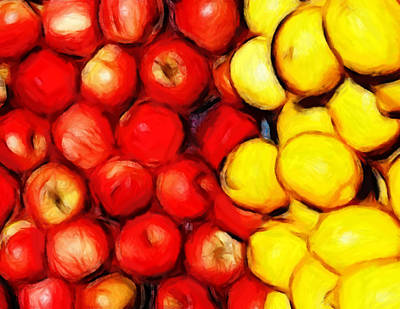 Lemons And Apples Print by Stefan Kuhn